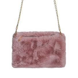 Handwarmer schoudertas - roze