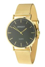 Elegance gold horloge - black