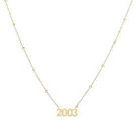 Year 2003 necklace - gold