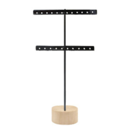 Jewelry display T-shape black