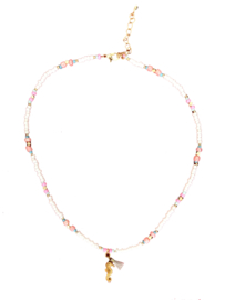 Sea horse beads necklace - gold