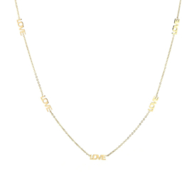 Love love love necklace - gold