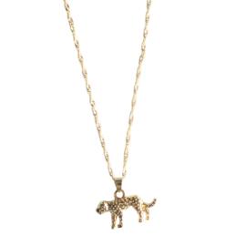 Leopard gold necklace