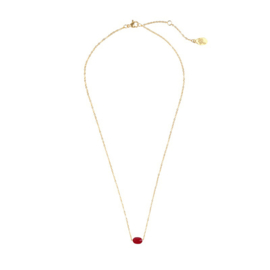 Little red dot necklace