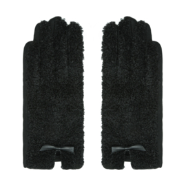 Teddy handschoenen black