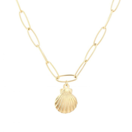 Shell chain necklace - gold