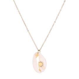 Sea shell shine necklace - gold