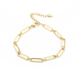 Big chain bracelet - gold