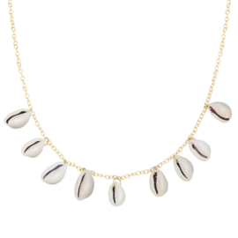 Beach shell necklace - gold
