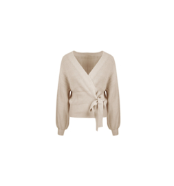 Knitted wrap cardigan Chloë - beige