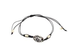 Sea shell zebra bracelet - gold