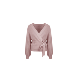 Knitted wrap cardigan Chloë - pink