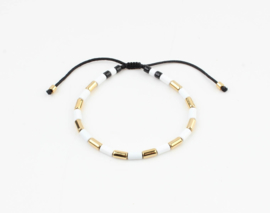 White and gold bracelet - gold