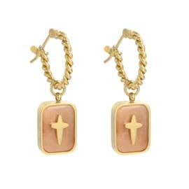 Lovely stone pink earring