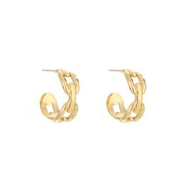 Chain earring - gold