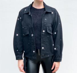 White stars jacket - black