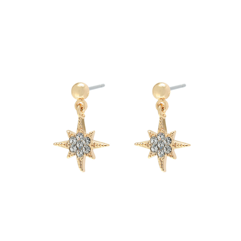 Starry studs - gold