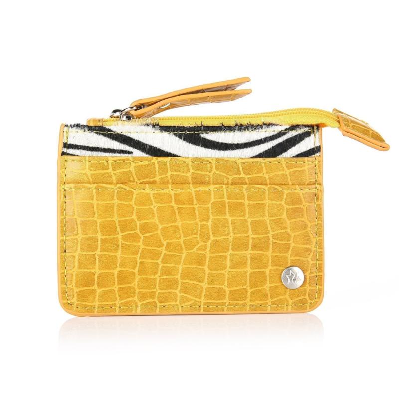 Zebra cardholder - yellow
