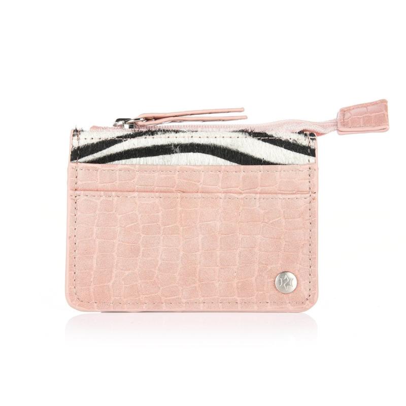 Zebra cardholder - pink
