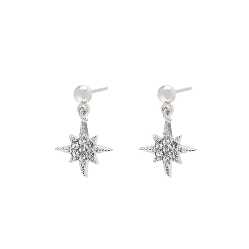 Starry studs - silver