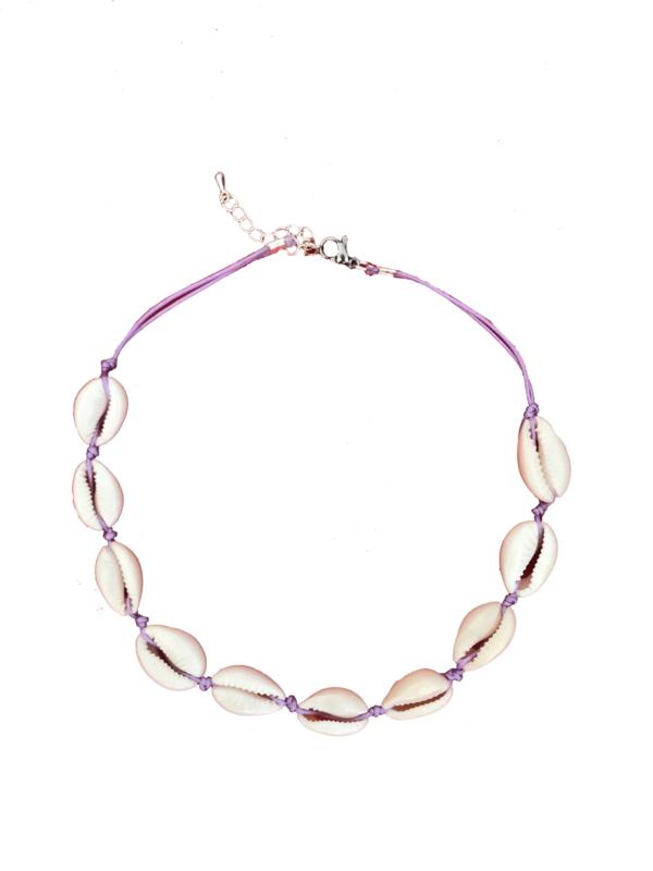 Sea shell choker purple