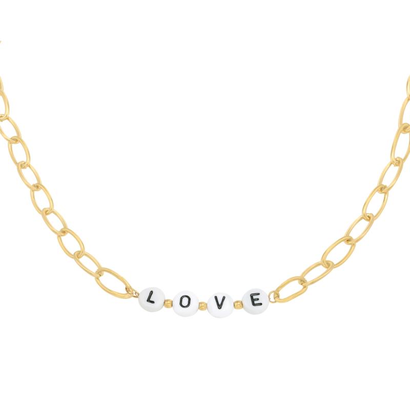 Love letter necklace - gold