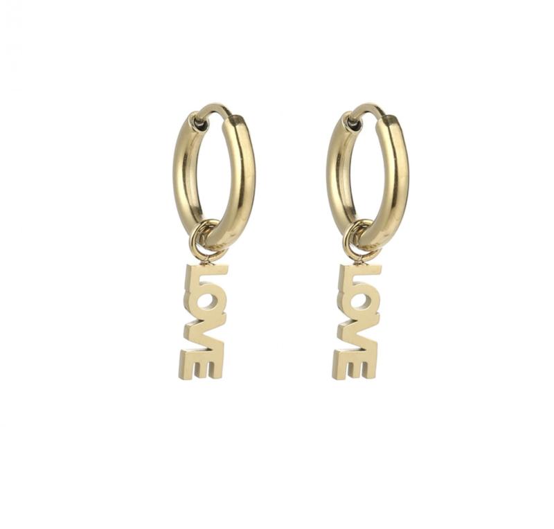 Love earring - gold