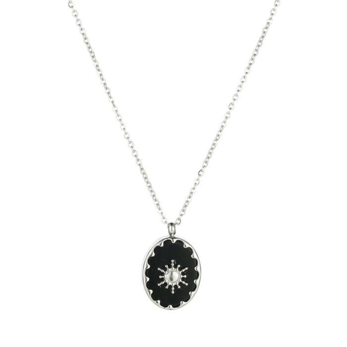 Sun black necklace