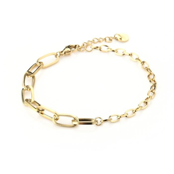 Double chain bracelet - gold