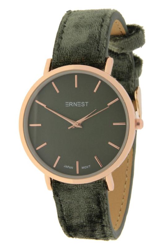 Velvet horloge - green