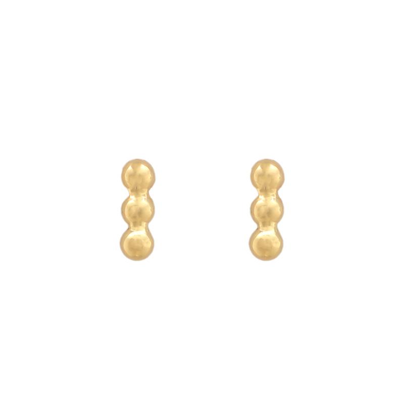 Three little circle bar - gold