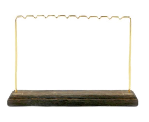 Gouden sieraden display