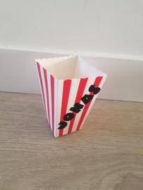 Popcornbakje 'Naam'