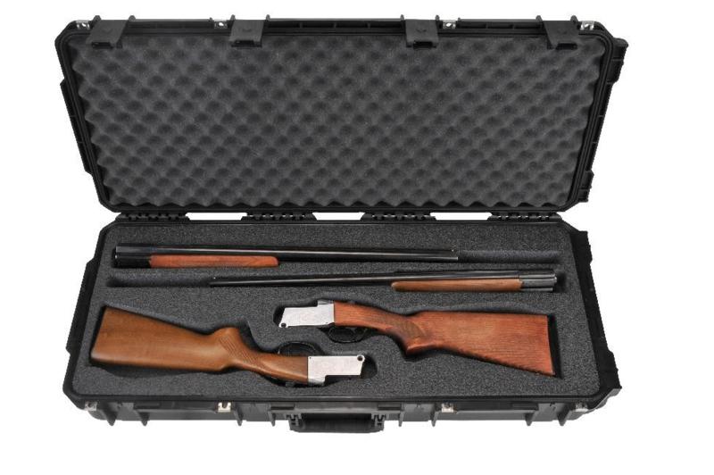 (437)  Double Custom Breakdown Shotgun Case SKB 3i-3614-cbd