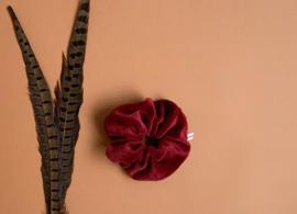 Velvet scrunchie rood