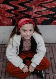 Haarband velvet rood kids
