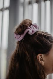 Velvet scrunchie blauw
