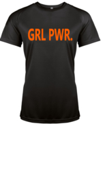 Performance GYM Shirt GRL PWR.  Oranje