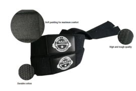 Iron black lifting straps