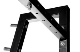 Squatrek - benchrek - spacings in one rack! Perfectly fit your barbell.