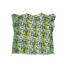 Riffle Top flower green maat 68, 74/80 en 86/92