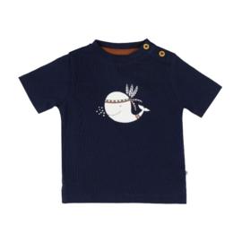 Ducky Beau T-shirt Navy Walvis maat 68, 74 en 80