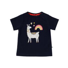 Ducky Beau T-shirt Navy Lama maat 62, 80 en 92