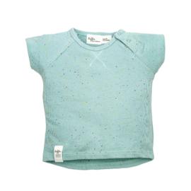 Riffle T-shirt nepps green maat 62, 68 en 86/92