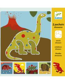 DJ08863 Knutselen tekensjablonen dinosaurus
