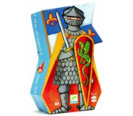 Djeco puzzel 'de ridder en de draak' 36 stuks