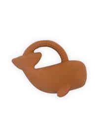 Bijtring Whale - Caramel - 100% natuurlijk rubber