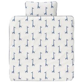 Fresk Donsovertrek 100x135 cm Giraf indigo blue