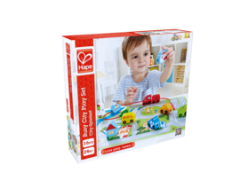 Hape-Busy city Play set rijgen