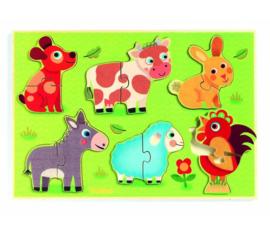 Djeco Inlegpuzzel Coucou Cow